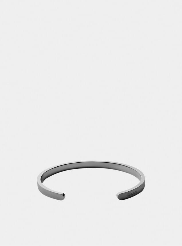 Matte Black Rhodium Singular Cuff