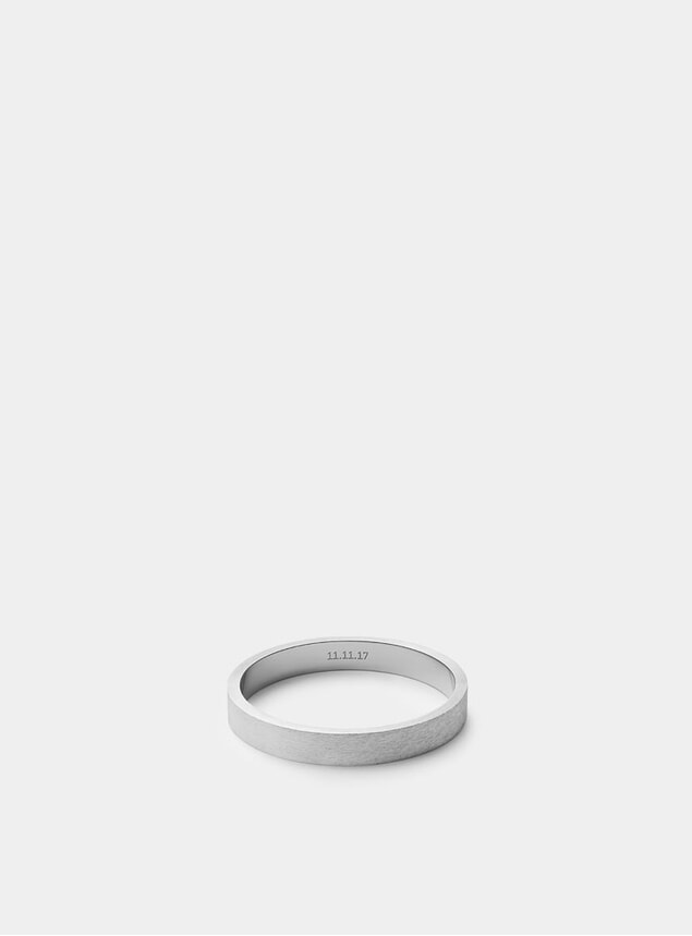 Matte Sterling Silver 3mm Silver Band