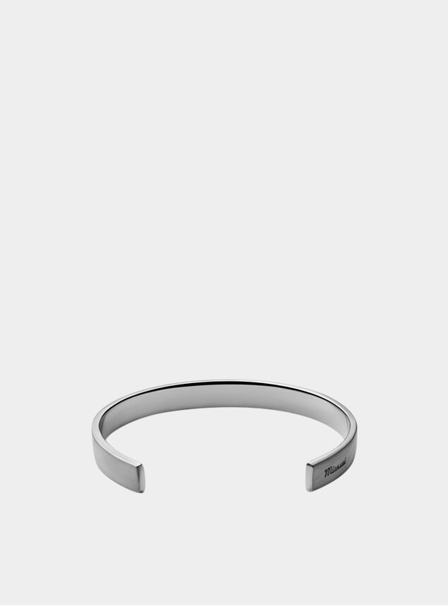 Matte Sterling Silver Label Cuff