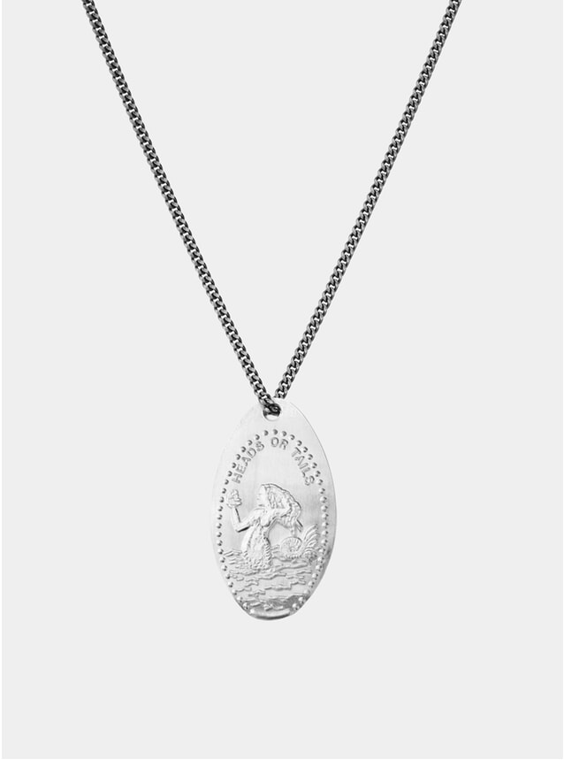 Mermaid Silver Penny Chain Necklace