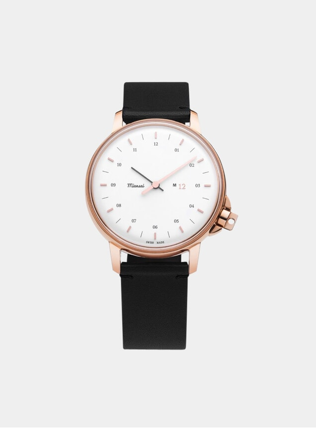 Rose / White Black Swiss M12 Watch