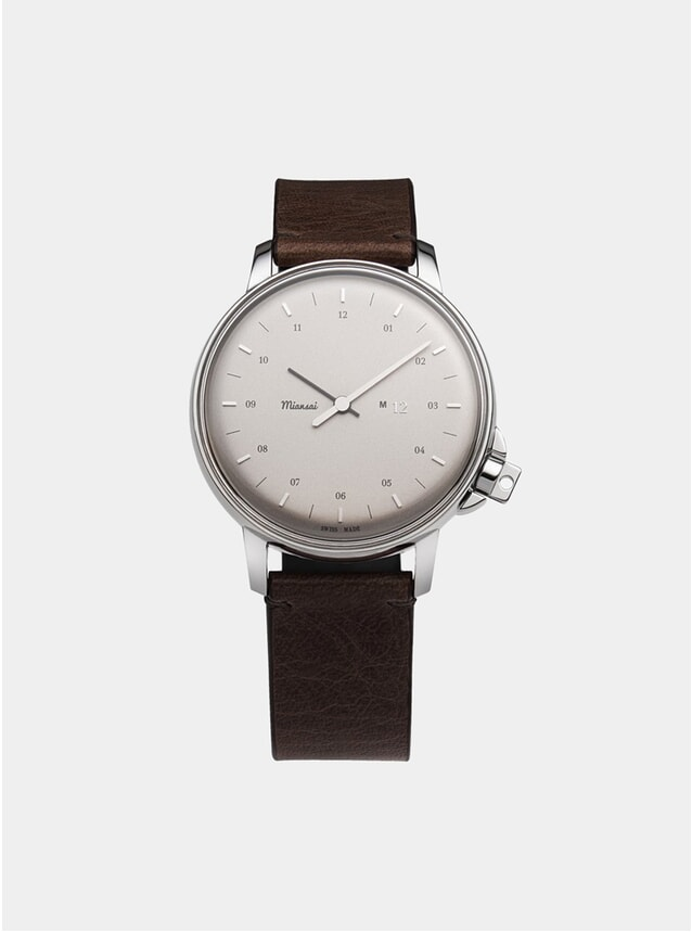 Silver / Chocolate Swiss M12 Watch