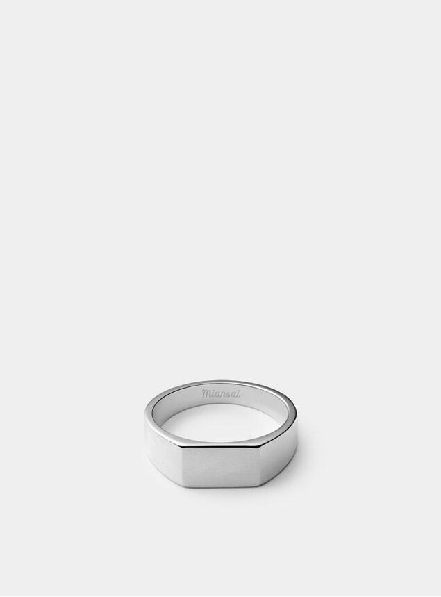 Sterling Silver Geo Signet Ring
