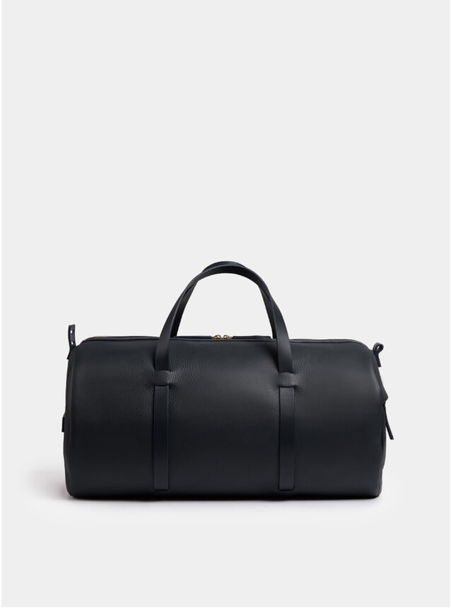 Duval Duffle, Textured Navy Leather