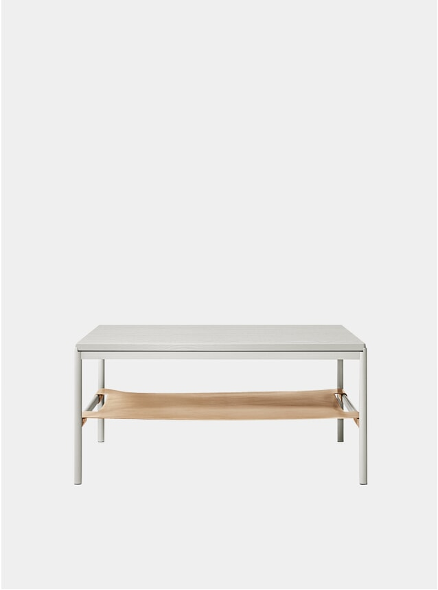 Grey / Oak Veneer / Nat. Leather Mies Lounge Table