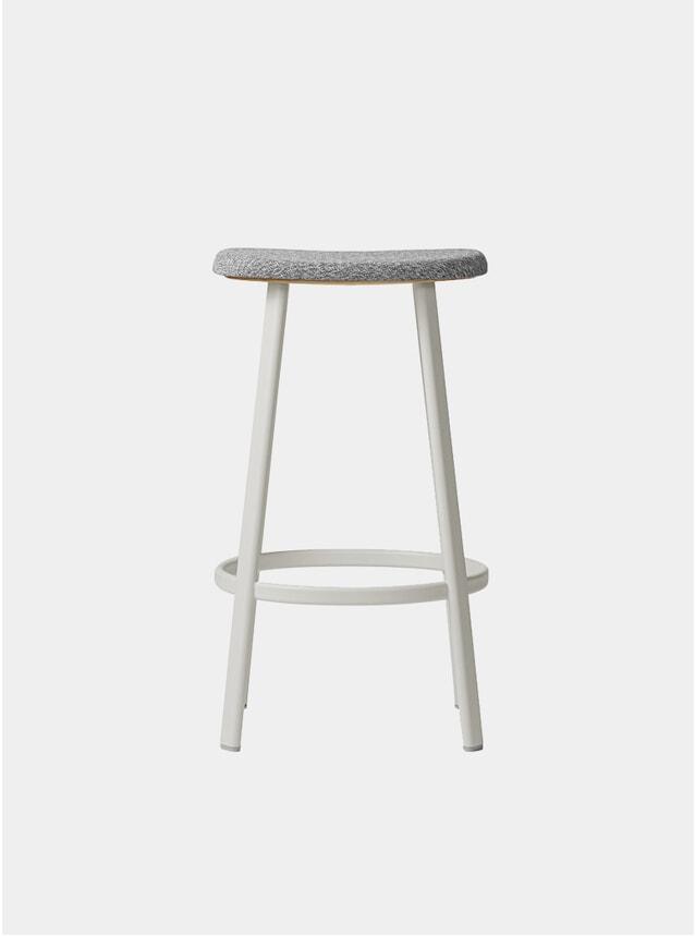 White / Mosquito Grey Textile Anno Bar Stool