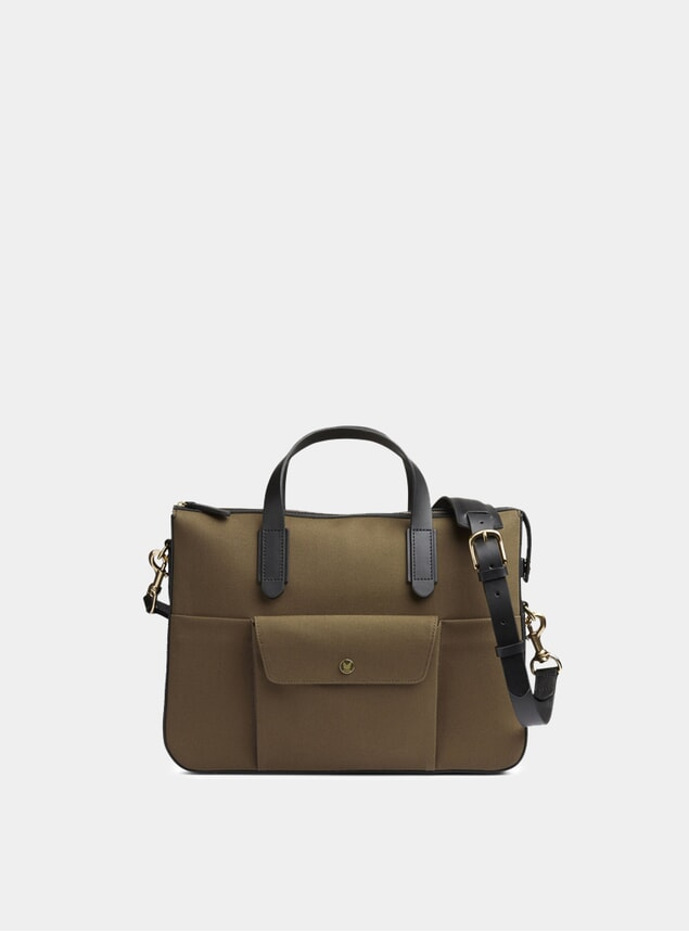 Khaki / Black  MS Briefcase