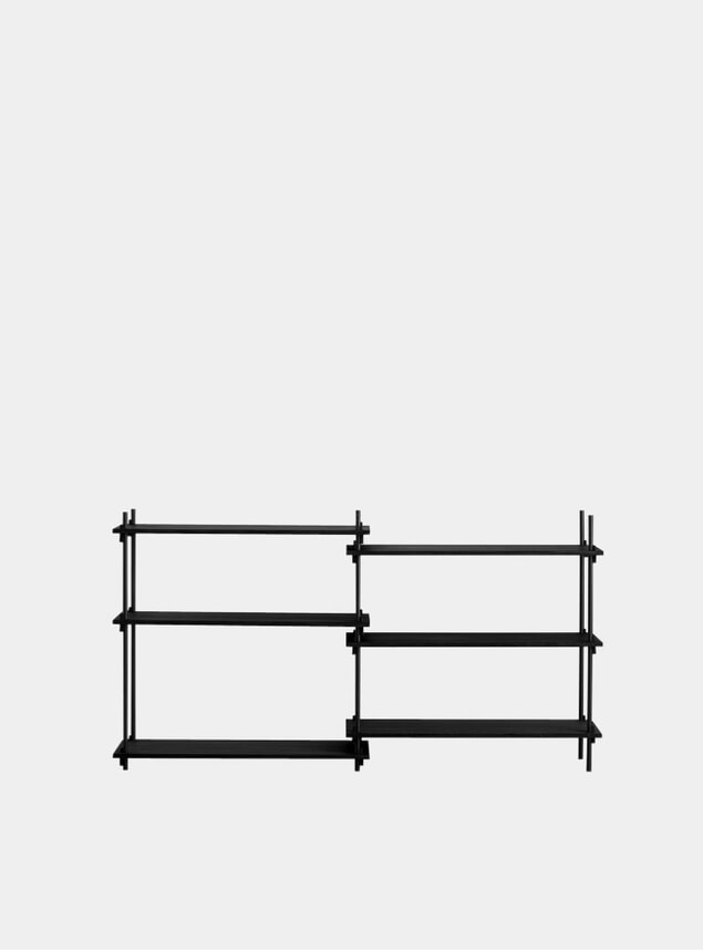 Black Low Double Shelving System