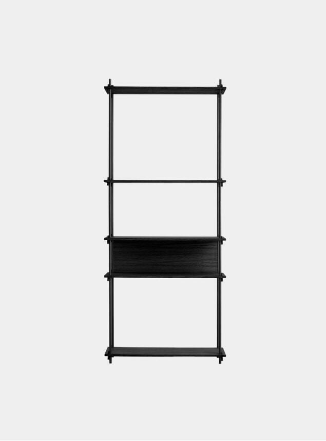 Black Tall Single Shelving System