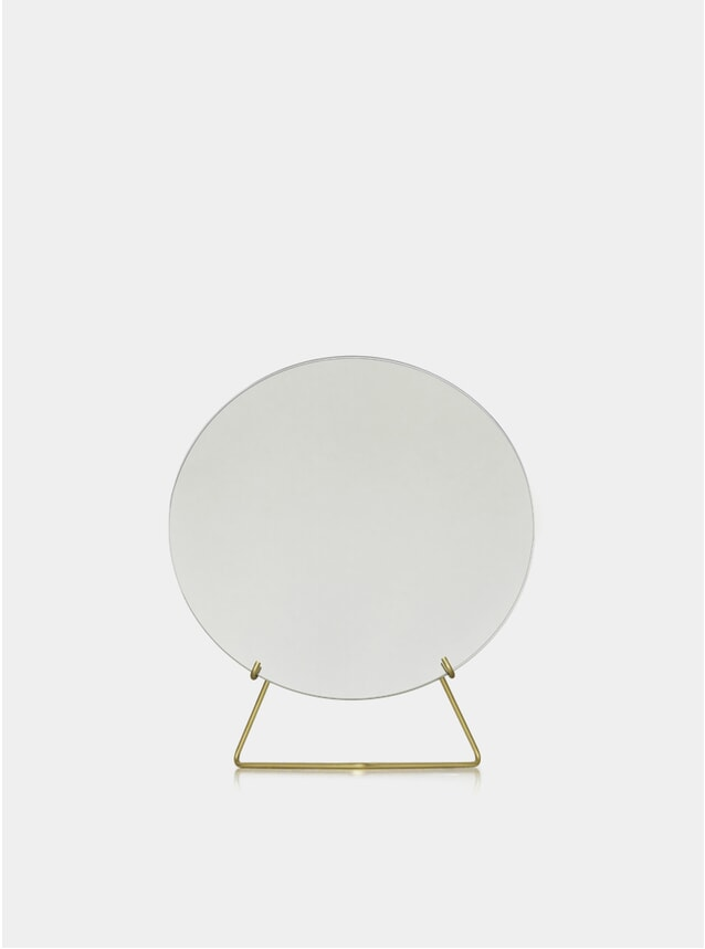 Brass 30cm Standing Mirror