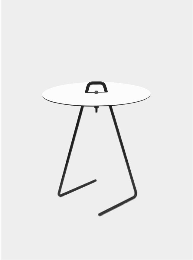 White / Black Side Table