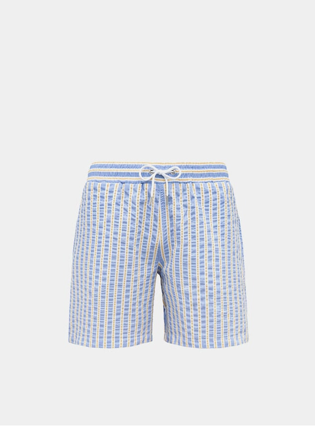 Sky Blue / Yellow Classic Original Swim Shorts