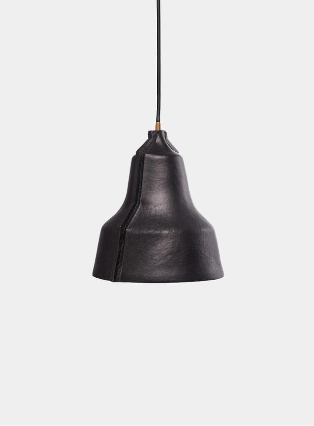 Black Leather Lloyd Lamp