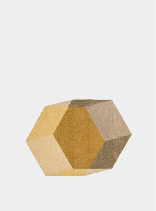 Yellow Hexagon Iso Isometric Rugs
