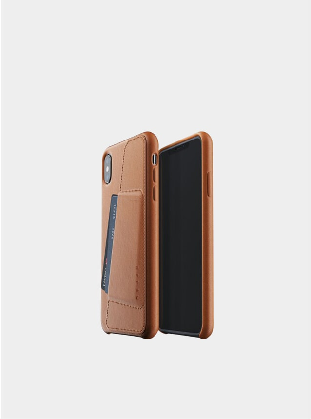 Tan iPhone Xs Max Leather Wallet Case