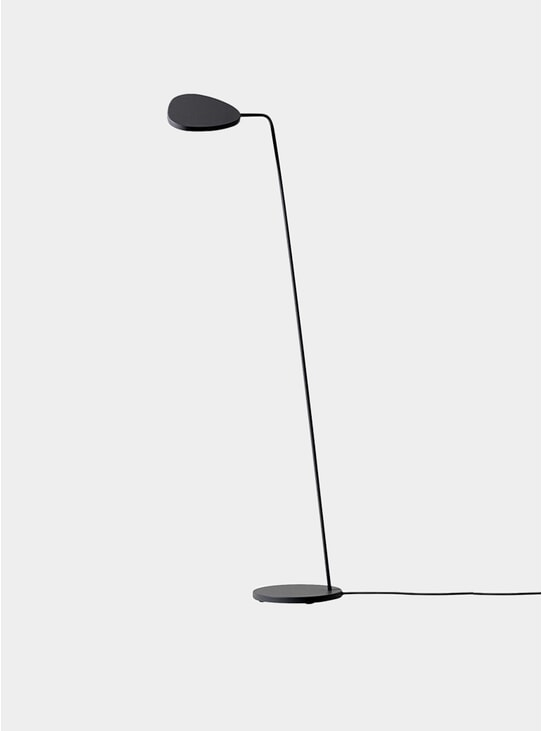 Black Leaf Floor Lamp