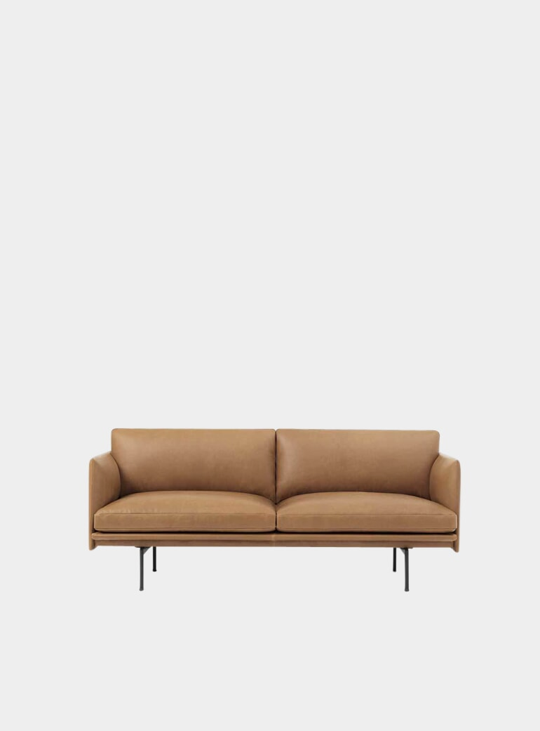 Muuto Cognac Silk Leather Two Seater