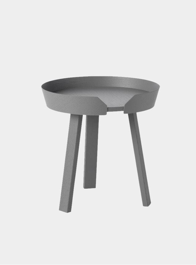 Dark Grey Around Small Coffee Table