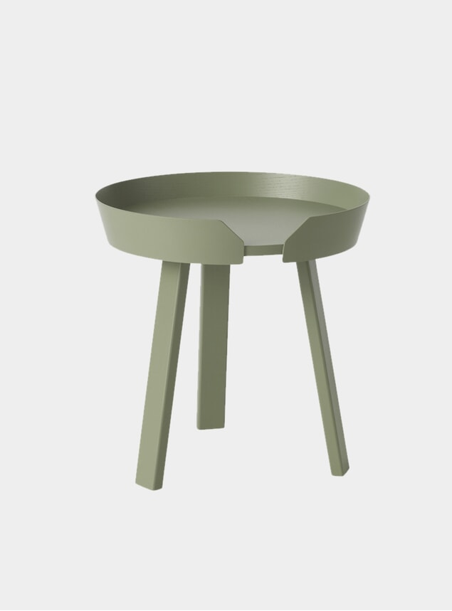 Dusty Green Around Small Coffee Table
