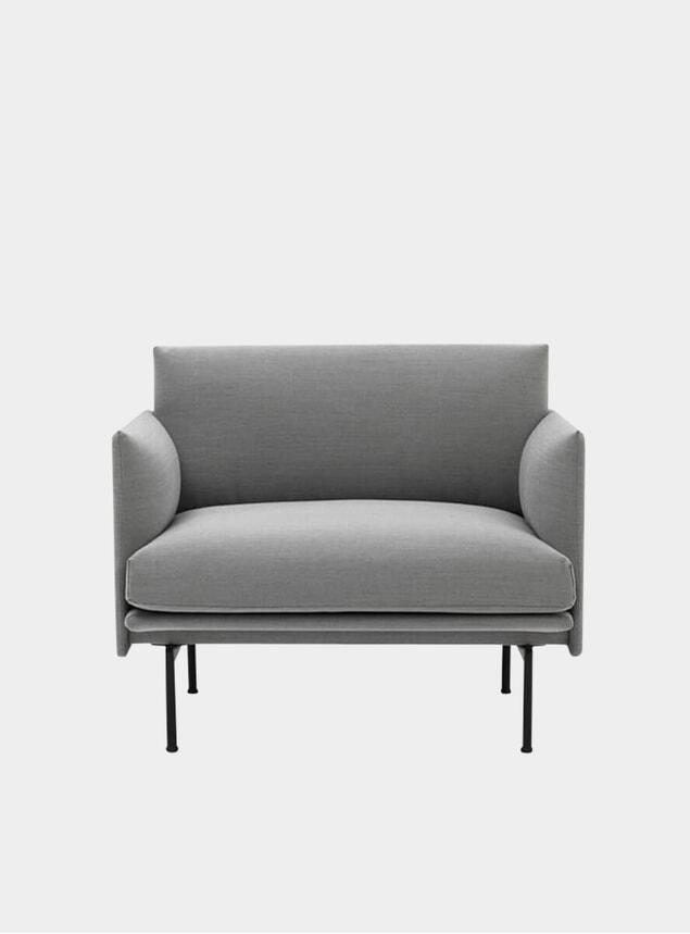 Grey Outline Armchair