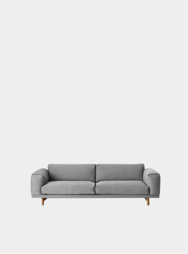Grey Three Seater Rest Sofa
