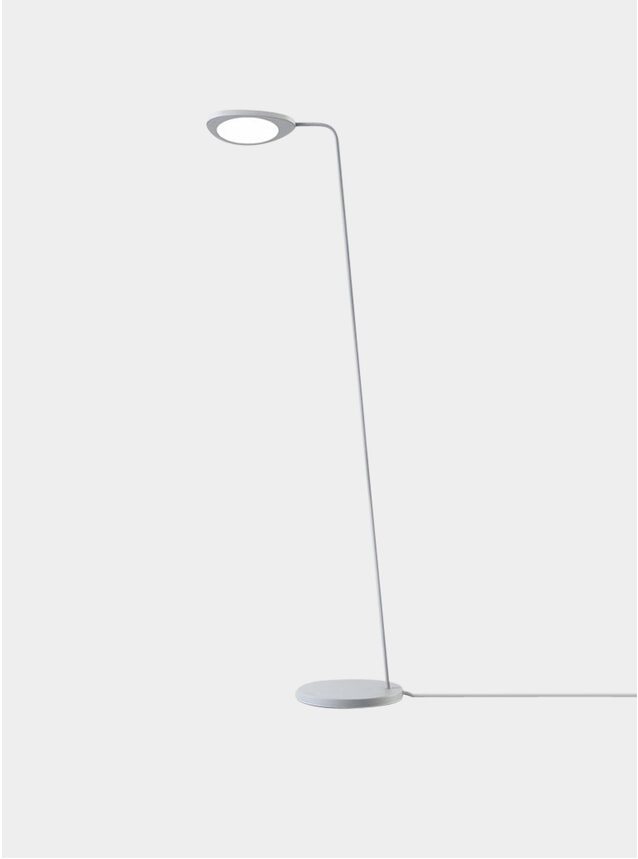 Grey Leaf Floor Lamp