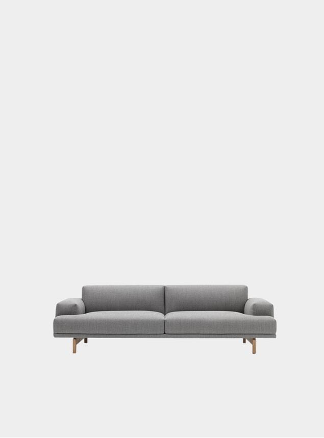 Grey Three Seater Compose Sofa