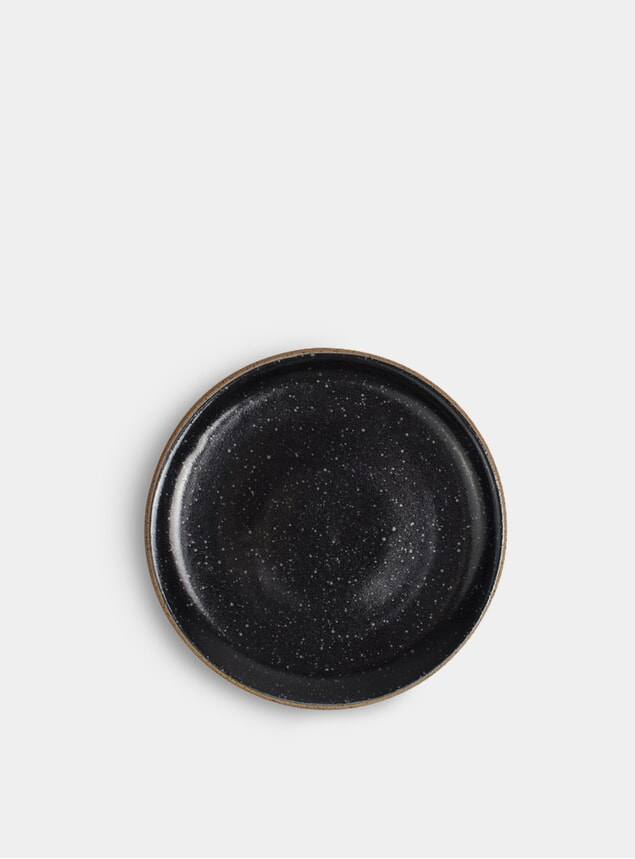 "Black Speckle 8"" Salad Plate"