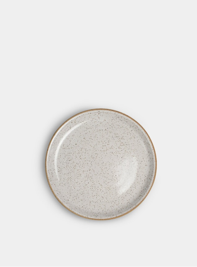 "White Speckle 8"" Salad Plate"