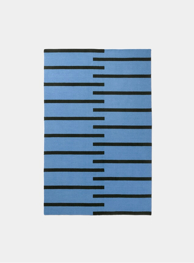 Blue / Black Tiger Rug