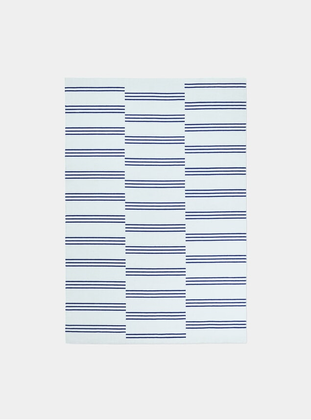 Ice / Blue Stripes Rug