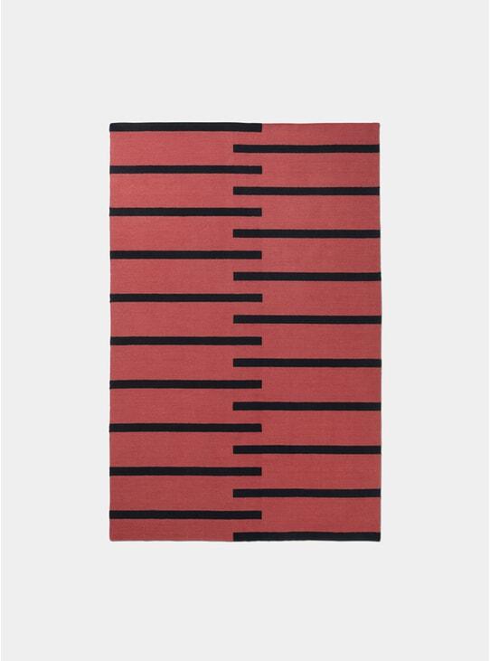 Red / Black Tiger Rug