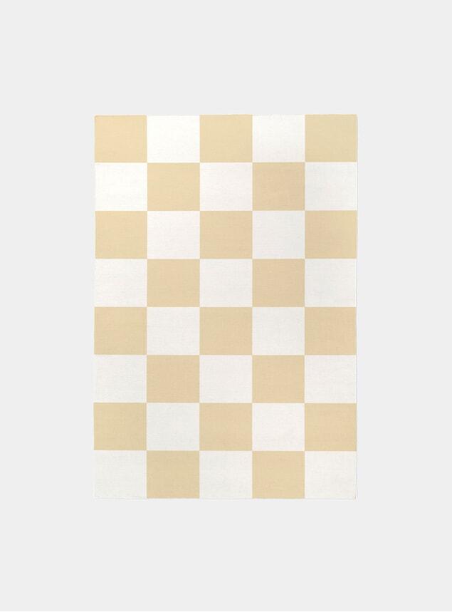 Yellow Square Rug