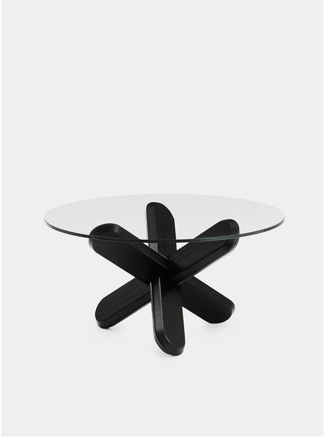 Black / Glass Ding Table
