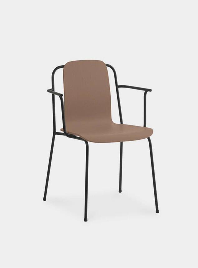Black Steel Studio Armchair