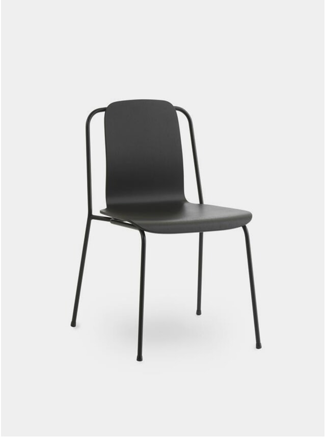 Black Steel Studio Chair