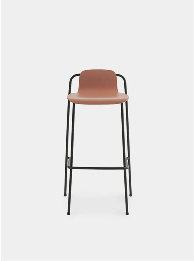 Brown / Black Steel Studio Bar Stool