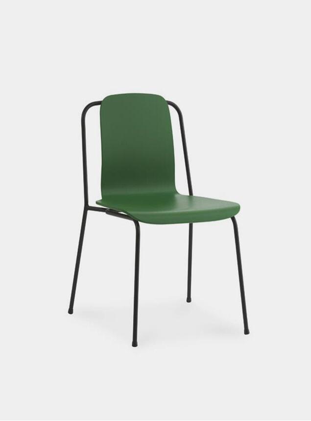 Green / Black Steel Studio Chair