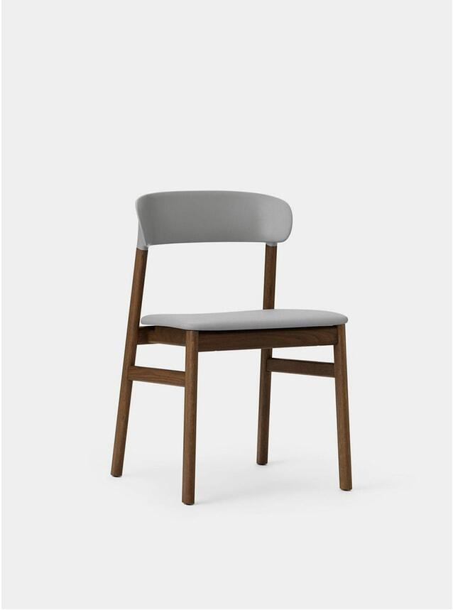 Grey Spectrum Leather Herit Chair
