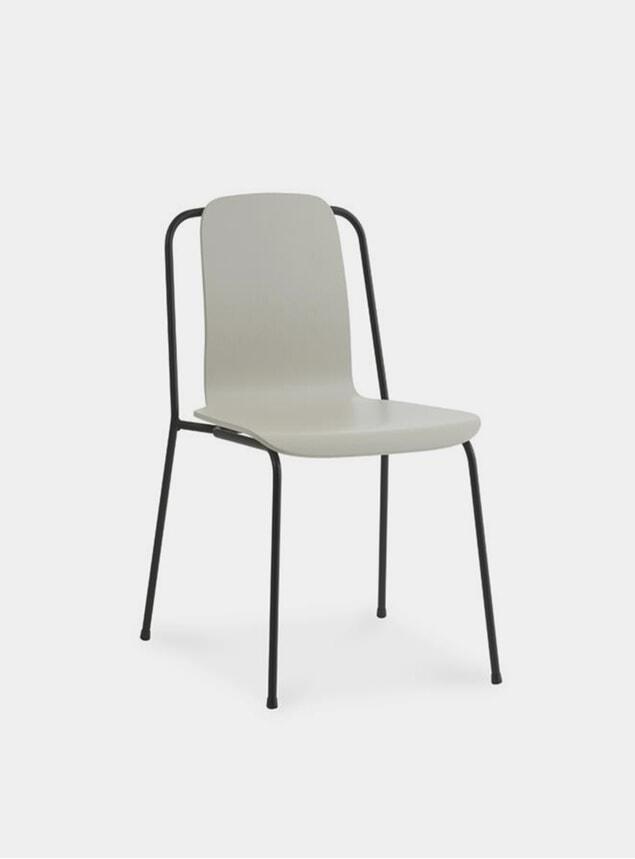 Light Grey / Black Steel Studio Chair
