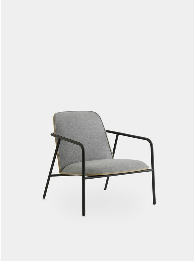 Oak / Synergy Pad Low Lounge Chair