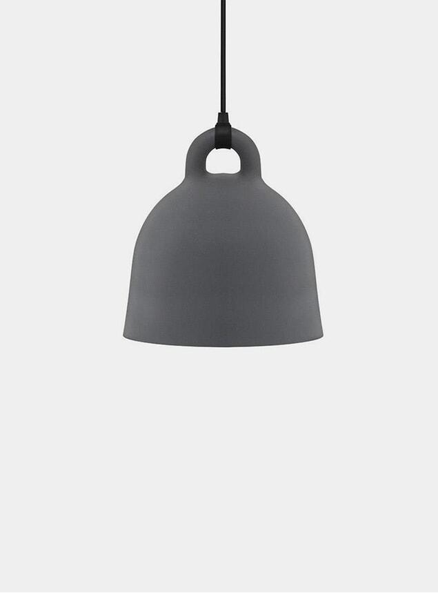 Small Grey Bell Pendant Lamp