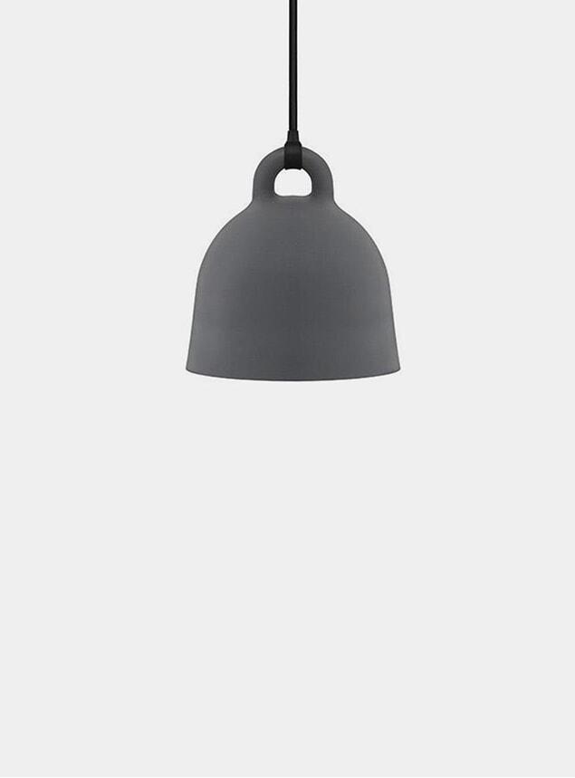 X-Small Grey Bell Pendant Lamp