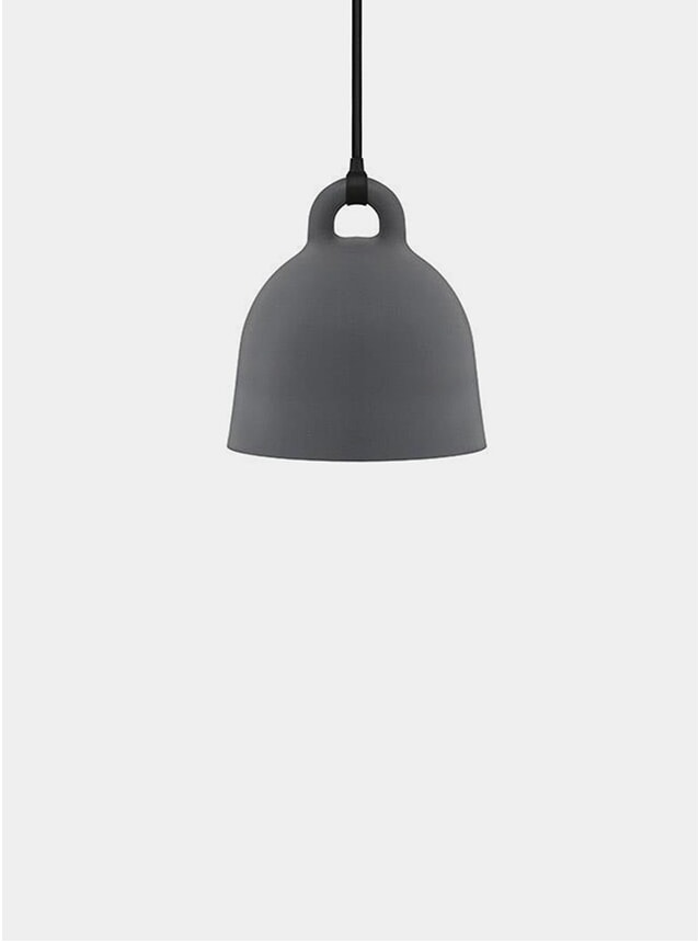 X-Small Grey Bell Pendant Lamp