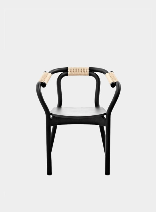 Black / Nature Knot Dining Chair