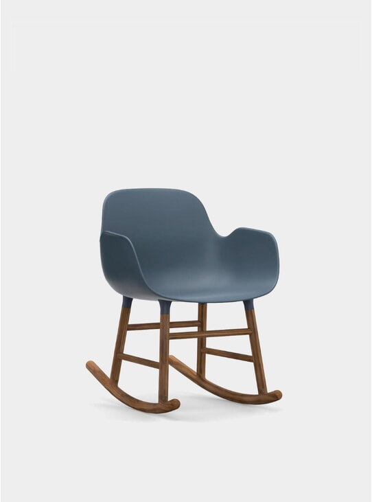 Blue Form Rocking Armchair