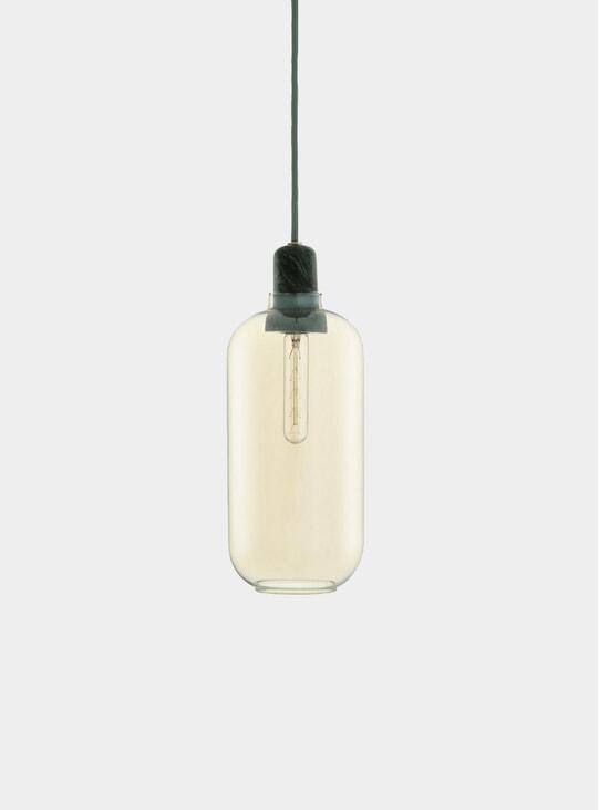 Gold / Green  Amp Large Pendant Lamp