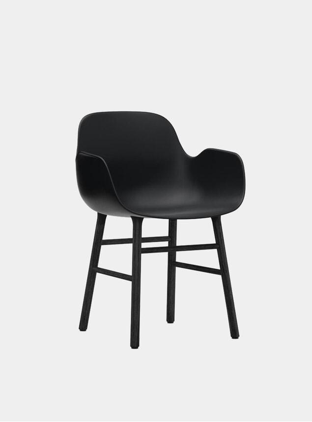 Black Form Armchair