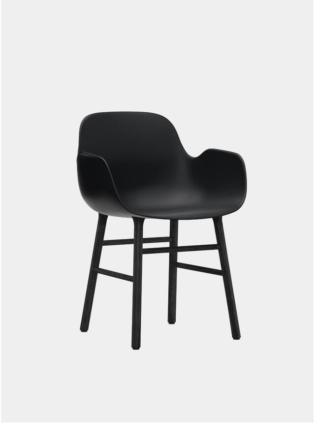 Black Form Armchair