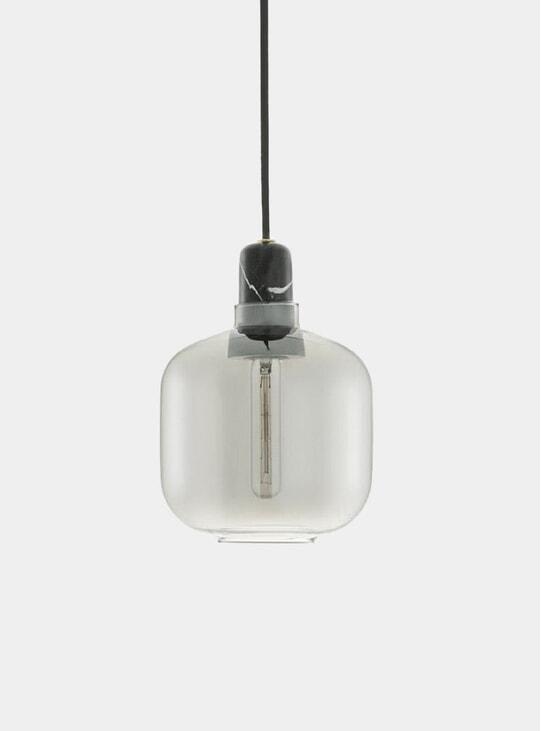 Smoke / Black Small Amp Lamp